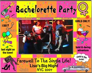 Personalized Parties Celebrations Frames Bachelorette Party