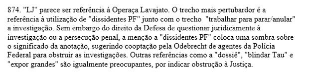 Trecho de sentença contra Marcelo Odebrecht  (Foto: Reprodução)