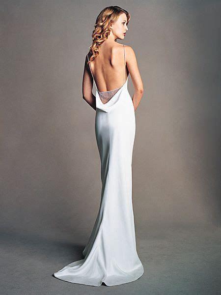 amsale silk crepe sheath gown   No idea what the front