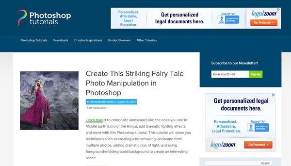 photoshoptutorials 8 sitios web que te convertirá en un Photoshop Guru