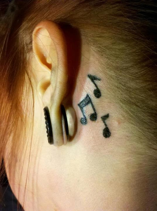 Popular Tattoo Designs And Meanings Music Notes Tattoos Behind The