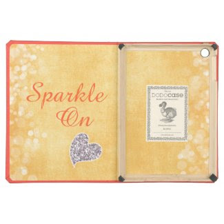 Sparkle On Quote with Glitter Heart iPad Air Covers