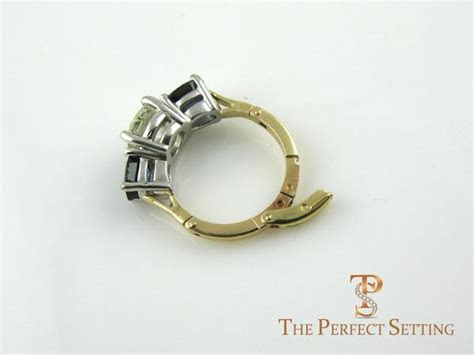 custom sapphire  diamond ring expandable band