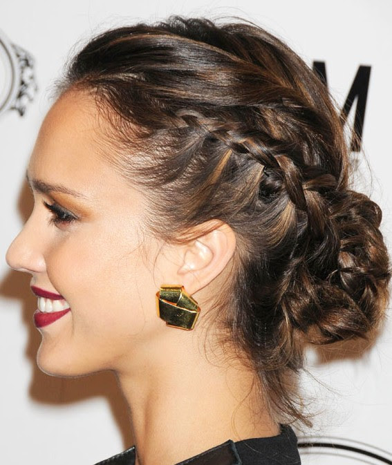 Braided  Bun Updo  Hairstyle  Hairstyles  Weekly