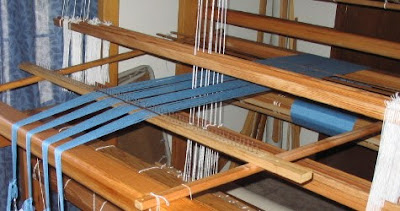Warping set-up for my current warp.