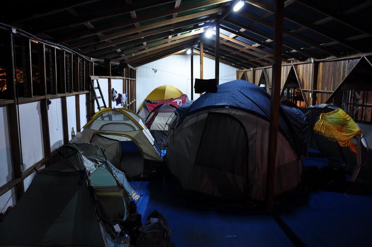 camping intérieur puerto viejo au Sunrise backpacker