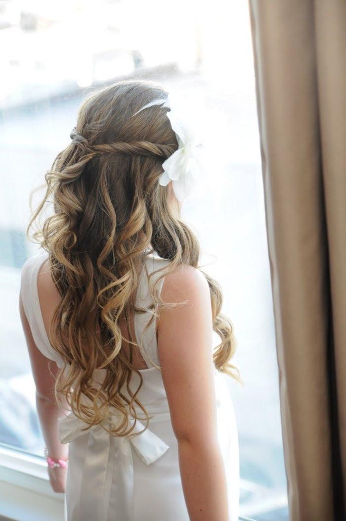 Frisuren Für Lange Haare Halboffen Frisur Mittellang