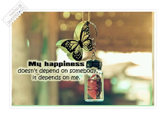 My Happiness Doesnt Depend On Somebody Motivational Quote Quotezco