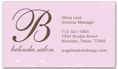 BCS-1029 - salon business card