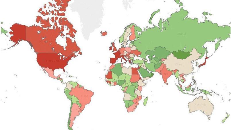 La carte du monde de la dette : 40 ans d'évolution en 30 secondes