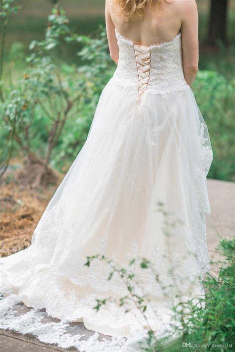 Discount 2017 Western Country Lace High Low Wedding