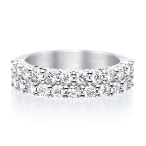 Platinum Paramount Two Row Diamond Band   Long's Jewelers