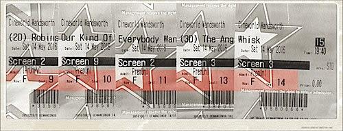 Cineworld Ticket-Stub Bingo!