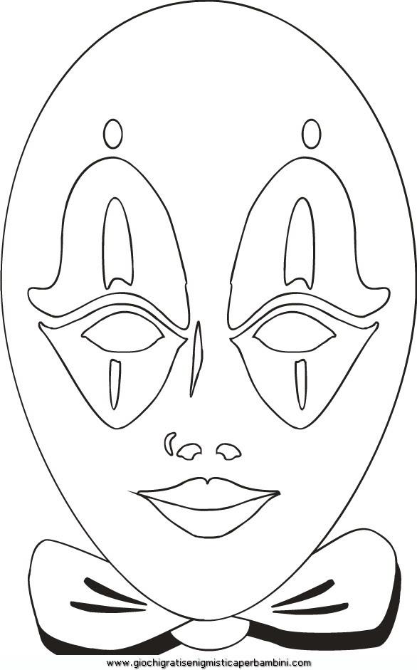 Maschera Veneziana 12 Disegni Da Colorare Per Bambini