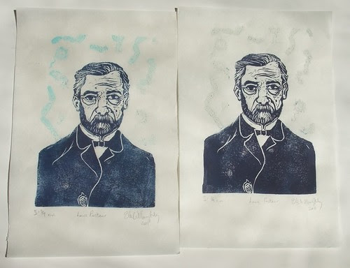 two thermochromic Pasteur prints AFTER