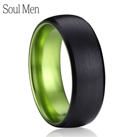 Aliexpress.com : Buy Men's Wedding Band 8mm Black with