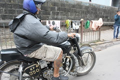 Tattoo Artist On Royal Enfield at Byculla by firoze shakir photographerno1