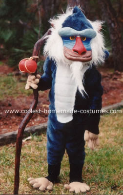 Coolest Homemade Rafiki Costume From The Lion King