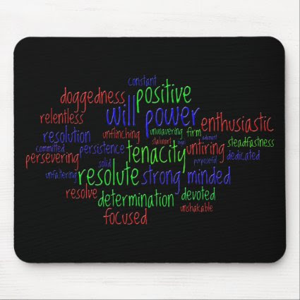 Motivational Words for New Year, Positive Attitude Mouse Pads