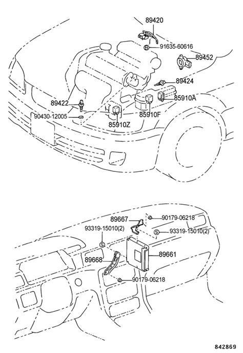 1998 TOYOTA CAMRY Sensor, oil temperature; sensor, water