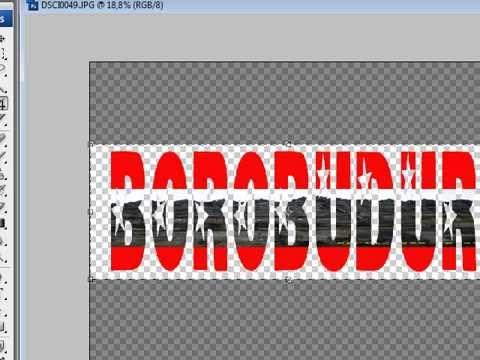 Memasukkan gambar ke dalam teks pada photoshop Cs3