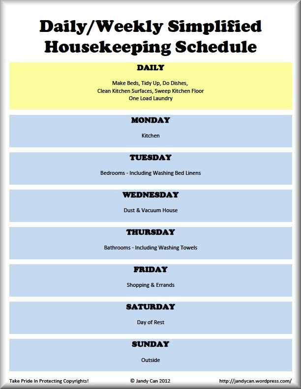 1000+ images about House - Cleaning Schedule on Pinterest ...