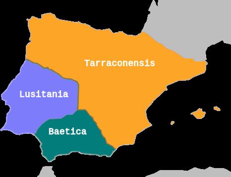 Provincias Hispania Romana