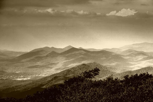 A Mountain Eve—in sepia