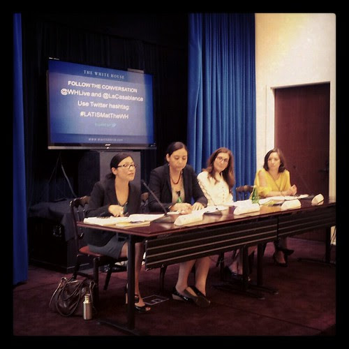 Panel of White House Latinas at #blogueras event
