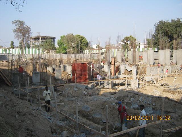 Vastushodh's Urbangram - 2 BHK Flat for Rs. 20 Lakhs - at Kondhawe Dhawade - Pune 411 023 - Construction Begins! - Plinth & foundation of D Building