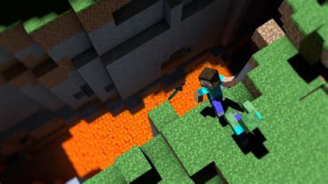 minecraft falaises zombies jeux lave video papier peint