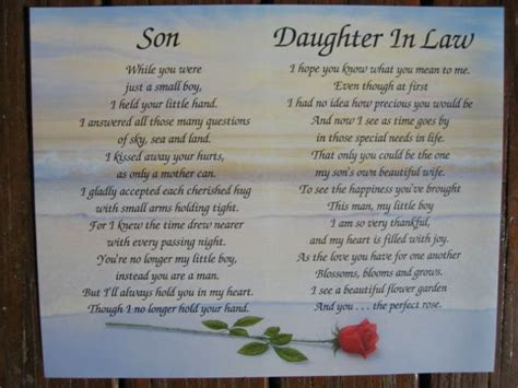 daughter in law poems   Son Daughter in law Personalized