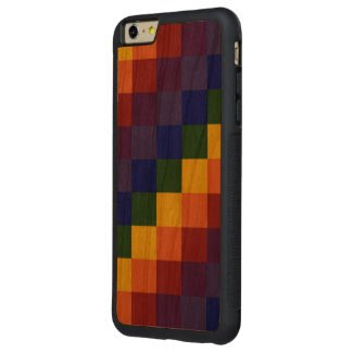 Checkered Rainbow Carved® Cherry iPhone 6 Plus Bumper