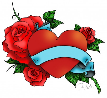 Free Heart And Ribbon Tattoo Designs Download Free Clip Art Free