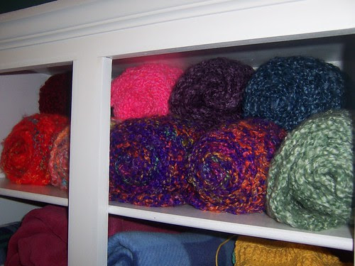 scarves in a roll