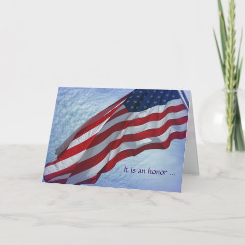 Thank You for Serving - Military Greeting Card card