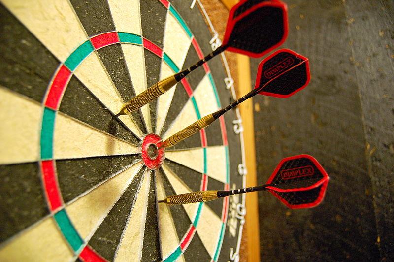 File:Darts in a dartboard.jpg