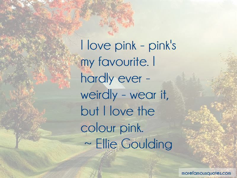 Pink Favourite Colour Quotes Top 3 Quotes About Pink Favourite