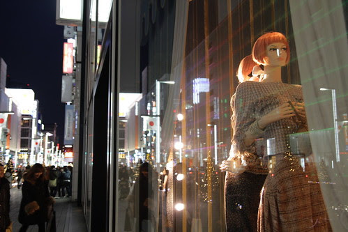 Two mannequins in Ginza