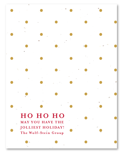 Ho Ho Dots Christmas Card