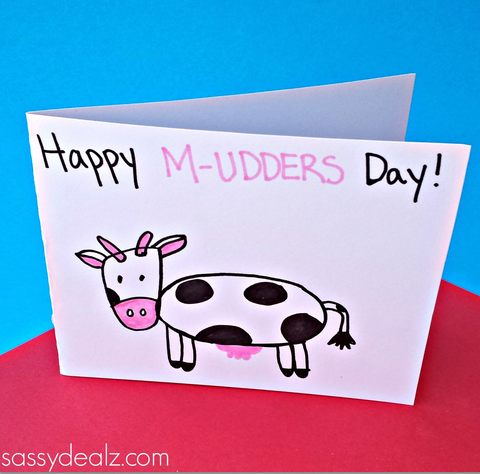 Cow Mothers Day Card Idea For Kids To Make Crafty Morning