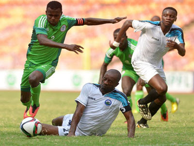 Flying Eagles defeat  Olympics team 4-3