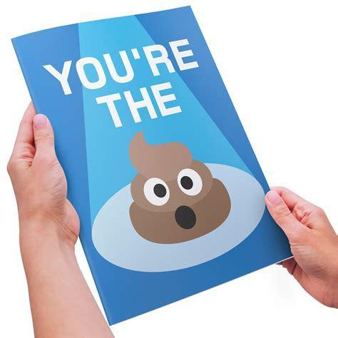 "Emoji Thank You Card   You're the ""SH!T"" (POOP EMOJI)"