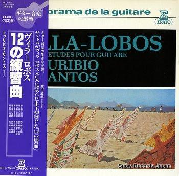 SANTOS, TURIBIO douze etudes pour guitare