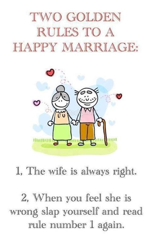 Two Golden Rules To A Happy Marriage   Funny Stuff