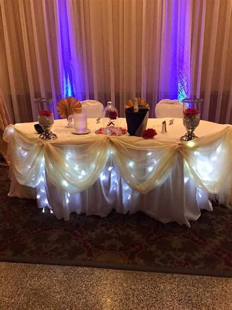 Beauty and the Beast Wedding Sweetheart Table, with