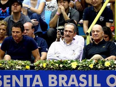 Aldo Rebelo, ministro do Esporte, foi vaiado no Ginásio do Ibirapuera Foto: Fernando Borges / Terra