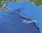 La rotta del Cessna precipitato nel golfo del Messico