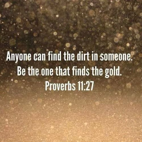 be the one that finds the gold.