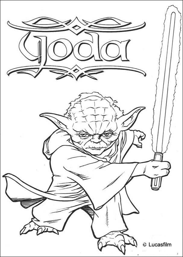 Coloriages Coloriage Star Wars De Maitre Jedi Frhellokidscom